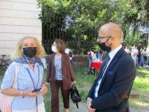 Carmine Pinto con la prof. Isabella Cognatti