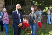 Carmine Pinto con la prof. M. Leonarda Notarangelo